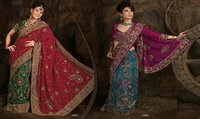 Aesthetic Embroidery Ladies Sarees