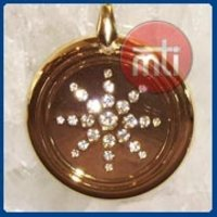 Golden MST Pendant With CZ