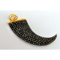 Knife Shape Diamond Studded Pendants