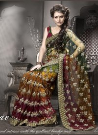 1004 Net Embroidery Sarees