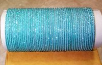 Sky Blue Color Glitter Bangles