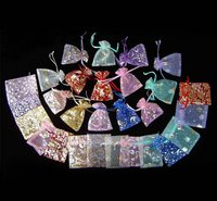 Mixed Colorful 2.7x3.5inch(7x9cm) Organza Bag Pouch