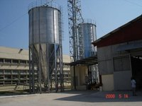 Hopper Bottom Silo For Rice Storage