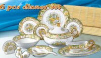 Porcelain Dinner Set 36pcs With Golden Design