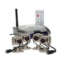 Four Channel 2.4ghz Wireless Mini Camera Kit