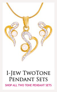 I Jew Two Tone Necklace Sets