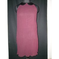 Crinkled Georgette Evening Dress