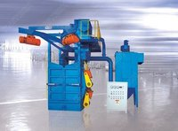 Overhead Rail Spinner Hanger Shot Blasting Machine