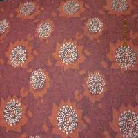 Large Floral Red Bagru Kalamkari Print Fabrics