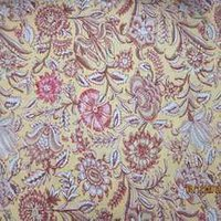 Large Floral Yellow Rapait Print Fabrics