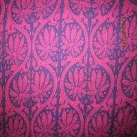Large Floral Pink Thethan Print Fabrics