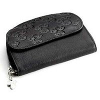 Black Leather Ladies Purse