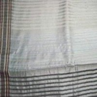 Self Stripped Silver Grey Silk Sarees
