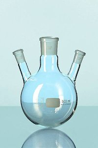 Three Neck Flask- Parallel Transparent