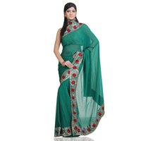 Pure Georgette Saree With Blouse