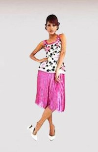 Ladies Top Skirt Sets