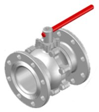 Investment Casting Two Piece Ball Valve