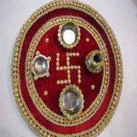 Pearl Decorated Pooja Thali