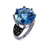 Silver Ring Aqua