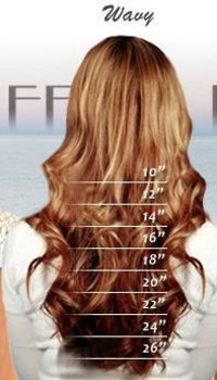 Wavy Human Hairs
