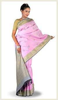 Sleek Pattern Silk Sarees