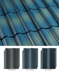 Double Barrel Roof Glazed Ceramic Tiles