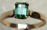 Green Tourmaline Gold Rings