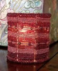 Beaded Candle Votive