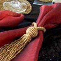 Beaded Tassels Napkin Rings