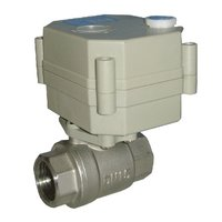 Mini Electric Stainless Steel Ball Valve For Havc