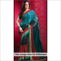 Trendy Multi Colored Printed Sari
