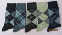 Cotton Spandex Computerised Designs Socks