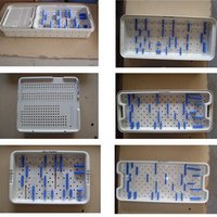 Care Kit Autoclavable Plastic Sterlization Tray With Holders