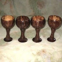 Coconut Hand Made Wine Glasses