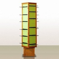 Wooden Spinner Rack with Solid Pine Frame and MDF Panels