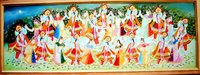 Krishna Ras Lila Oil Paintings