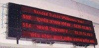 Railway Arrival Departure Led Display Boards