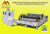 HX-2800B Full-Automatic Toilet Paper Rewinding, Embossing, Perforating and Cutting Production Line