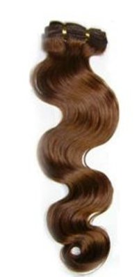 #6 Middle Brown Body Wave Human Hair Weft