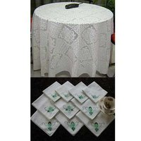 Applique Table Covers And Napkins