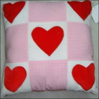 Heart Cheque Cotton Cushions