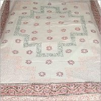 Cotton Block Printed Bed Sheets