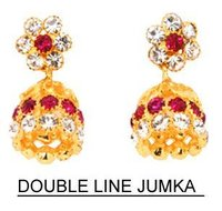Double Line Jhumka