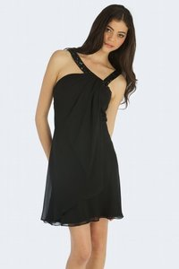 Black Chiffon Party Dress