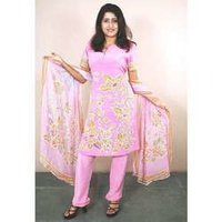 Hand Wax Batik Crep Salwar Suits