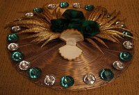 Golden And Green Ring Tray