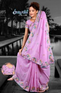 Shimmer Based Designer Saree