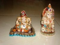 Ganesh and Hanuman Statue