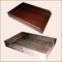 Leather Office Trays