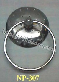 Towel Ring Holder Nickel Plated Dotted